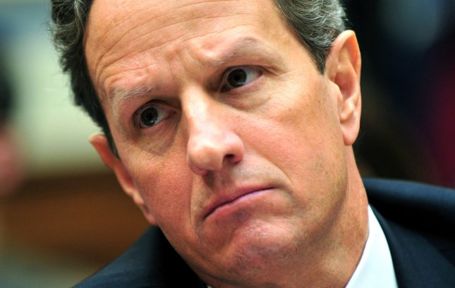 Treasury Secretary Tim Geithner testifies during a House Oversight and Government Reform Committee hearing on the European debt crisis on Capitol Hill in Washington, D.C. on March 21, 2012. UPI/Kevin Dietsch