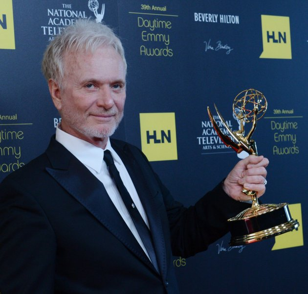 Anthony Geary appears backstage with the Best Actor in a Drama award he won for General Hospital, at the 39th annual Daytime Emmy Awards in Beverly Hills, California on June 23, 2012. Geary, who has played beloved scoundrel Luke Spencer off and on for more than 30 years on GH, picked up his seventh Daytime Emmy at the ceremony, setting a record for an actor. UPI/Jim Ruymen