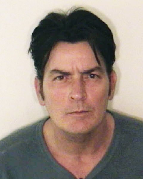 Actor Charlie Sheen, seen in a police photo handout, was arrested in Aspen, Colorado on December 25, 2009 after police responded to a domestic violence call. UPI/Aspen Police Department
