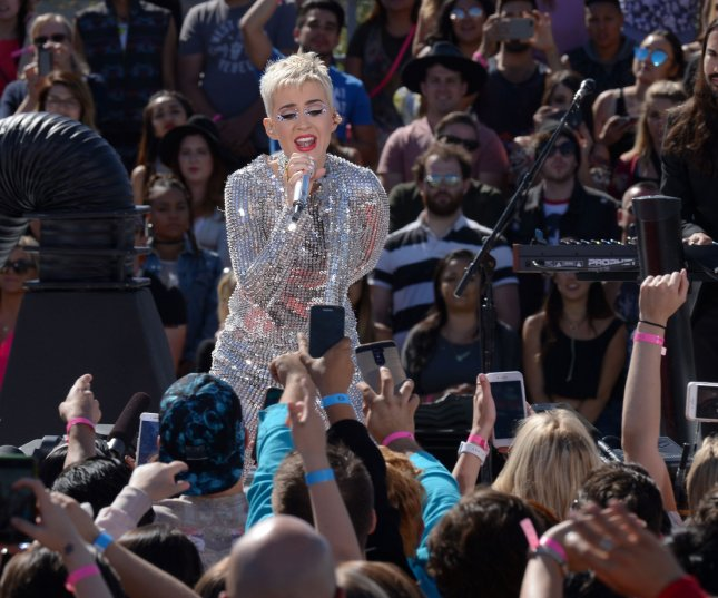 Katy Perry performs at the Witness worldwide exclusive YouTube livestream concert at Ramon C. Cortines High School for Performing Arts in Los Angeles on June 12. Perry's episode of The Therapist is to debut Monday on Viceland. Photo by Jim Ruymen/UPI