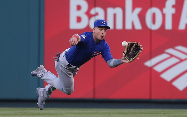 Albert Almora, Jr. and the Chicago Cubs face the Minnesota Twins on Friday. Photo by Bill Greenblatt/UPI