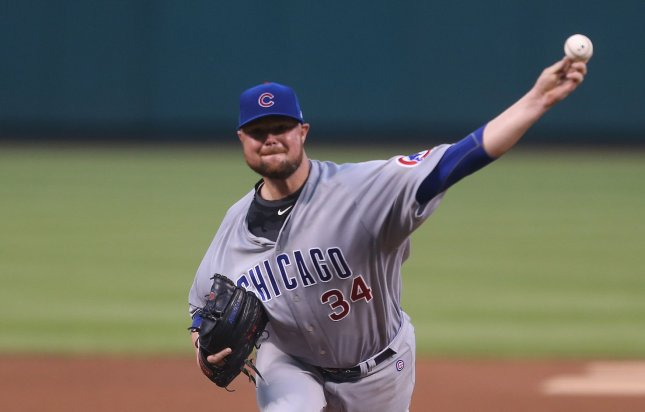 Jon Lester and the Chicago Cubs square off with the Minnesota Twins on Sunday. Photo by Bill Greenblatt/UPI