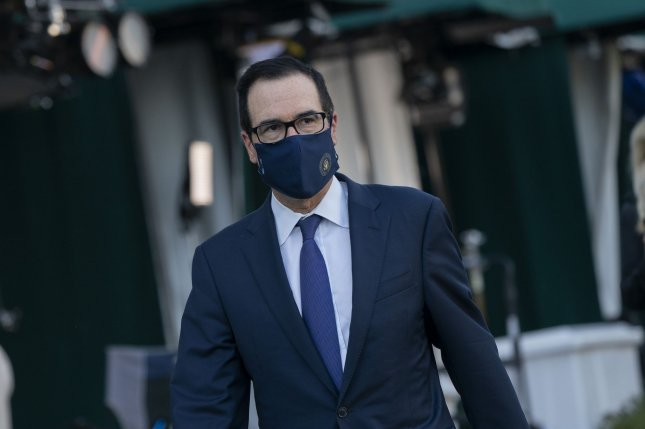 Secretary of the Treasury Steven T. Mnuchin on Monday announced sanctions against Ahmed Luqman Talib and his Talib and Sons gemstones company in Melbourne, Australia. Photo by Chris Kleponis/UPI