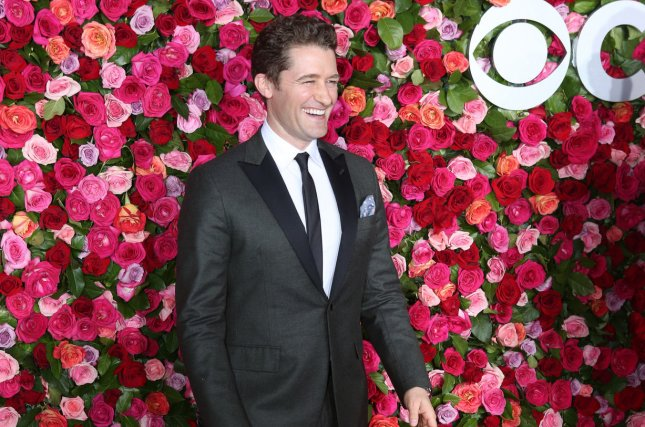 Matthew Morrison arrives on the red carpet at the 72nd annual Tony Awards Sunday in New York City. He introduced the teens from Florida's Marjory Stoneman Douglas High School at the Tonys. Photo by Serena Xu-Ning/UPI