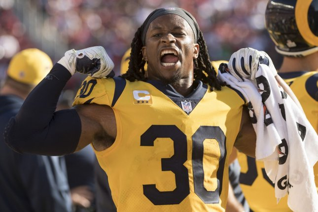 Los Angeles Rams running back Todd Gurley enters the 2019 season after being named an All-Pro in back-to-back seasons. File Photo by Terry Schmitt/UPI