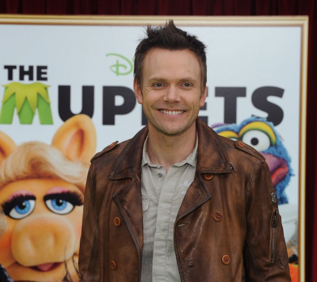 Comic actor Joel McHale attends the motion picture musical comedy The Muppets, at the El Capitan Theatre, in the Hollywood section of Los Angeles on November 12, 2011. UPI/Jim Ruymen