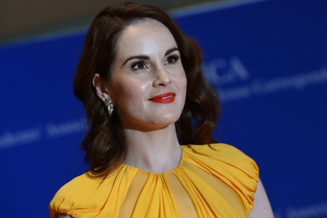 Michelle Dockery at the White House Correspondents' Association gala on April 30. The actress played Lady Mary Crawley on Downton Abbey. File Photo by Molly Riley/UPI