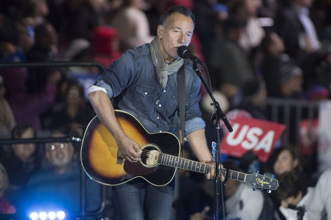 Bruce Springsteen performs for a rally for Democratic presidential candidate Hillary Clinton on November 7. Springsteen performed alongside E Street Band member Steven Van Zandt over Memorial Day weekend. File Photo by Kevin Dietsch/UPI