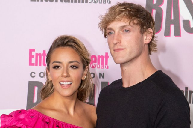 Chloe Bennet (L) and Logan Paul recently broke up after several months of dating. File Photo by Howard Shen/UPI