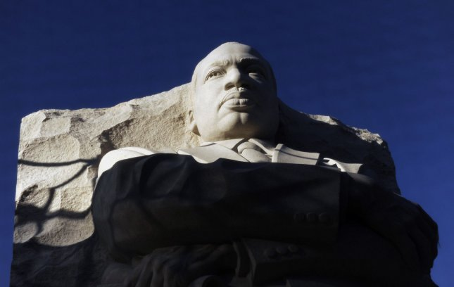 A stone statue of Rev. Martin Luther King, Jr., is seen under construction at his memorial on the National Mall in Washington on January 13, 2011. The memorial is on time for dedication in August, 2011. UPI/Roger L. Wollenberg