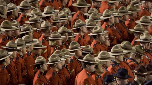 One British Columbia man was caught wearing the work uniform of the Royal Canadian Mounted Police while trying to steal an ATM machine. (UPI /Jim Bryant)