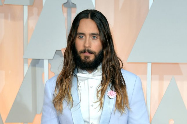 Jared Leto at the Academy Awards on Feb. 22, 2015. The actor reportedly stayed in character as the Joker on the 'Suicide Squad' set. File Photo by Kevin Dietsch/UPI