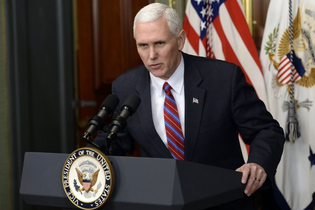 Vice President Mike Pence, seen here in Washington, D.C., during a swearing-in ceremony for Dr. Ben Carson as secretary of the Housing and Urban Development Department on Thursday, used a private email account to conduct state business as governor of Indiana. Pool photo by Olivier Douliery/UPI