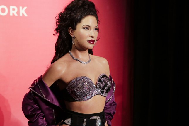 Selena Quintanilla was honored with a wax statue at Madame Tussauds in New York on Friday. Photo by John Angelillo/UPI