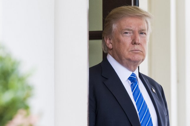 President Donald Trump waits for Prime Minister Najib Abdul Razak of Malaysia to arrive at the White House on Tuesday in Washington, D.C. Photo by Kevin Dietsch/UPI