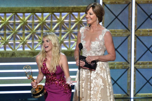 Anna Faris and Allison Janney's CBS sitcom Mom has been renewed for a sixth season. File Photo by Jim Ruymen/UPI