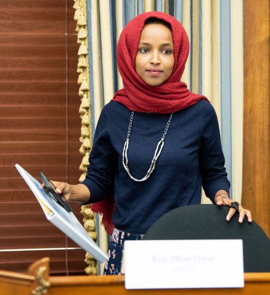 Rep. Ilhan Omar, D-Minn., introduced a bill Wednesday to prevent schools from engaging in practices that shame students with school lunch debt. Photo by Kevin Dietsch/UPI