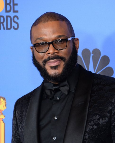 Tyler Perry is giving out food to 5,000 families in Atlanta Sunday, ahead of this week's Thanksgiving holiday. File Photo by Jim Ruymen/UPI