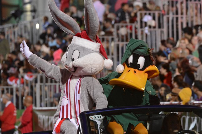 Bugs Bunny and Daffy Duck are seen in the 82nd Hollywood Christmas Parade Benefiting Marine Toys for Tots Foundation held in Los Angeles on December 1, 2013. The characters' iconic cartoons will soon be available to stream online via the Boomerang platform. File Photo by Phil McCarten/UPI