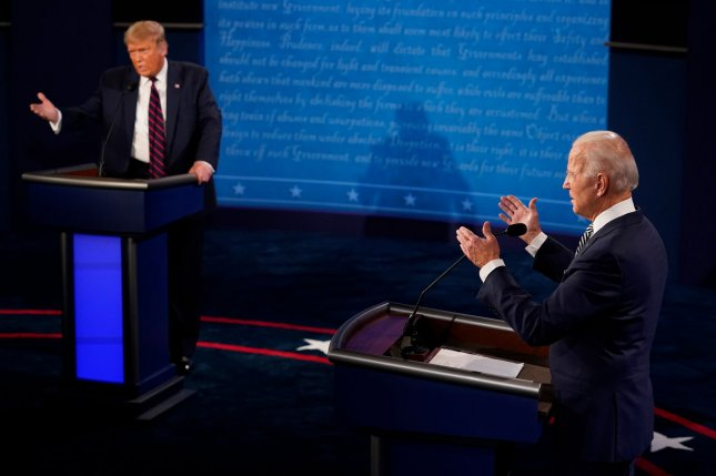 President Donald Trump is holding a rally in Nevada and a fundraiser in California on Sunday, while Democratic presidential nominee Joe Biden is traveling to North Carolina to promote early voting. File Pool Photo by Morry Gash/UPI