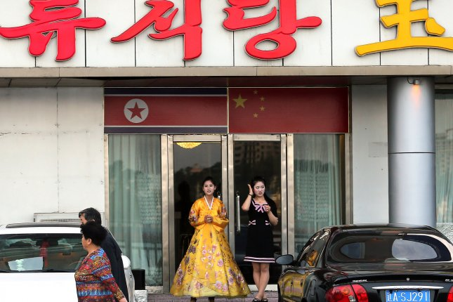 North Korean restaurant workers in a northeastern Chinese city were seen waiting to receive COVID-19 vaccines, according to a South Korean press report Wednesday. File Photo by Stephen Shaver/UPI