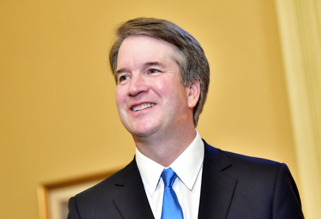 The Trump administration will withhold more than 100,000 pages of documents related to Supreme Court nominee Brett Kavanaugh's time as White House counsel under former President George W. Bush, an attorney for Bush said . Photo by Kevin Dietsch/UPI