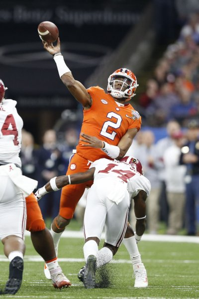 Kelly Bryant and Clemson held off Texas A&M on Saturday. Photo by AJ Sisco/UPI
