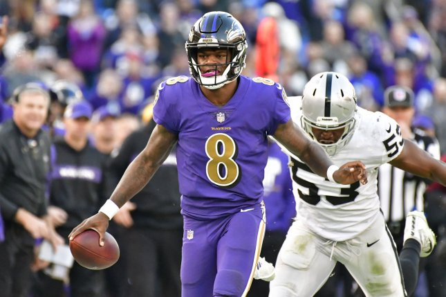 the best attitude e0217 3169b QB Lamar Jackson raises Ravens playoff chances - UPI.com