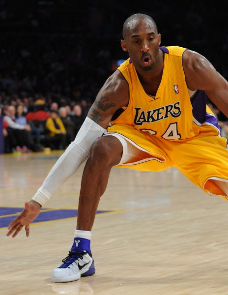 Kobe Bryant of the Los Angeles Lakers at Staples Center in Los Angeles, Dec. 27, 2011. UPI/Jim Ruymen/file photo