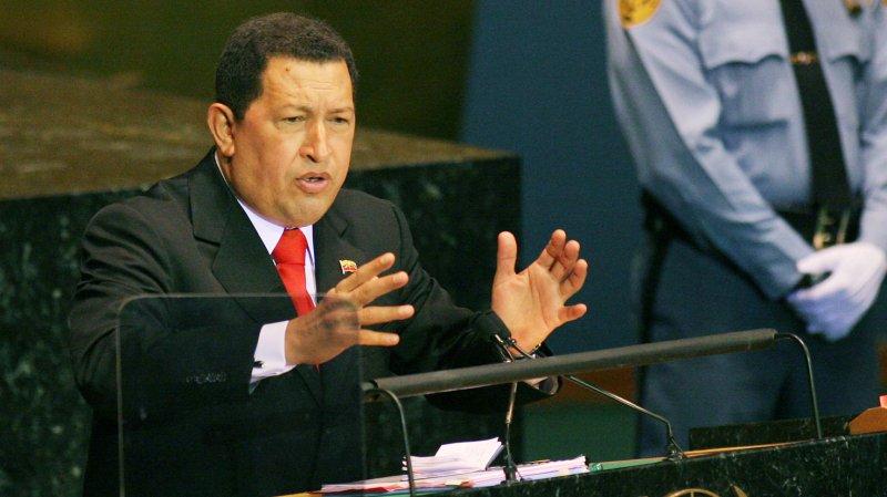 Venezuelan President Hugo Chavez Frias addressed the 64th General Assembly at the United Nations on September 24, 2009 in New York City. UPI /Monika Graff