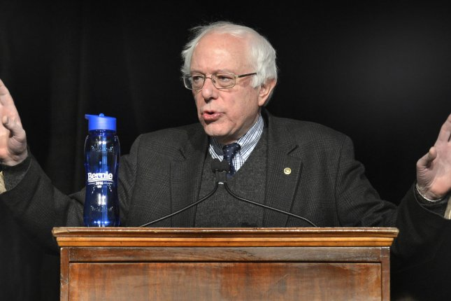 Vermont Sen. Bernie Sanders, 2016 Democratic presidential candidate, campaigned at Herbert Hoover High School on Monday in Des Moines, Iowa. Photo by Mike Theiler/UPI
