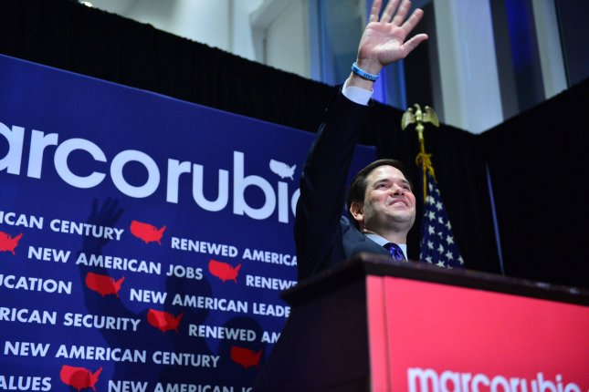 Republican incumbent Marco Rubio, seen here in March won a second term in the Senate on Tuesday, beating Democratic U.S. Rep. Patrick Murphy. Photo byJohnny Louis/UPI