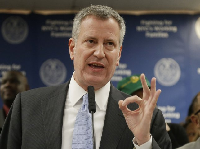 New York City Mayor Bill de Blasio blamed Amazon for ending its deal to build its second headquarters in Queens. Photo by John Angelillo/UPI