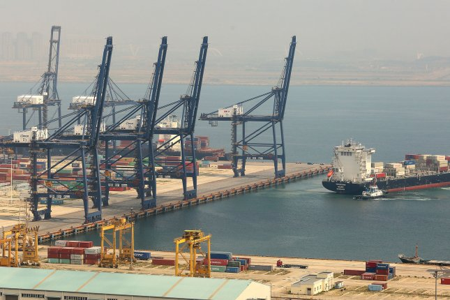 A Chinese official invited South Korean entities to build together a free trade port in Dalian, Liaoning Province, on Wednesday. File Photo by Stephen Shaver/UPI