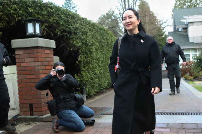 China said Tuesday Huawei executive Meng Wanzhou was being arbitrarily detained in Canada. File Photo by Heinz Ruckemann/UPI
