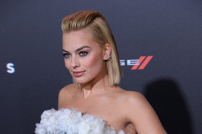 Margot Robbie at the Los Angeles premiere of 'Focus' on February 24. The actress tattooed 'Suicide Squad' director David Ayer on Tuesday. File photo by Jim Ruymen/UPI