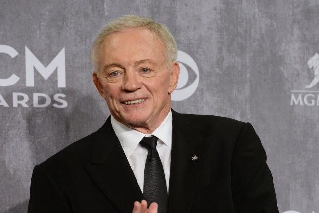 The Dallas Cowboys and owner Jerry Jones were awarded with four compensatory picks in the 2016 NFL Draft. File photo Jim Ruymen/UPI