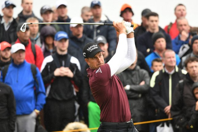 Sweden's Henrik Stenson drives from the rough on the 8th hole on Day two at the 146th Open Championship, Southport on July 21, 2017. File photo by Hugo Philpott/UPI