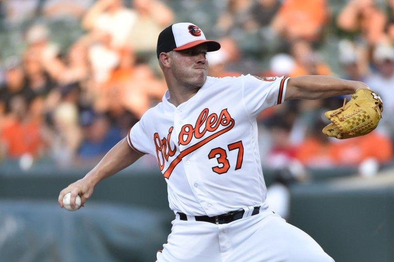 Baltimore Orioles pitcher Dylan Bundy at Camden Yards in Baltimore, Md. File photo by David Tulis/UPI