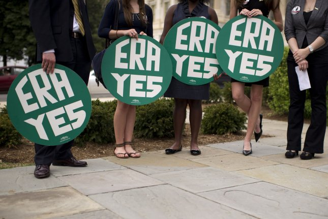 When the amendment initially passed in 1972, states had seven years ratify it. The deadline then was extended three more years, by which time only 35 of the required 38 states had voted to ratify the ERA before efforts stalled for decades. File Photo by Kevin Dietsch/UPI