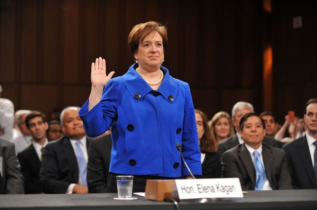 Supreme Court nominee Elena Kagan, President Obama's pick to replace retiring Justice John Paul Stevens, is sworn in prior to testifying on the first day of her confirmation hearing before the Senate Judiciary Committee on Capitol Hill in Washington on June 28, 2010. UPI/Kevin Dietsch