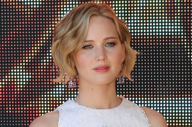 Jennifer Lawrence arrives at a photo call for the film The Hunger Games: Mockingjay Part 1 at the Hotel Majestic in Cannes, France on May 17, 2014. UPI/David Silpa