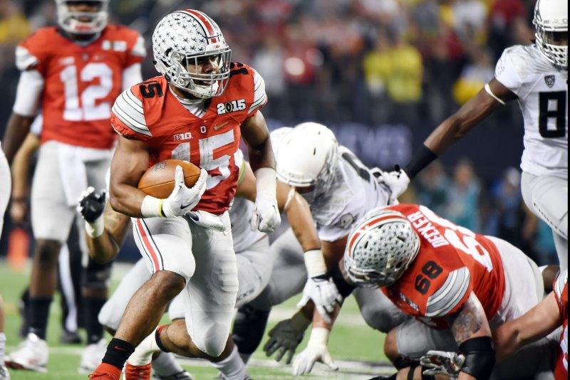 Ohio State Buckeyes running back Ezekiel Elliott. Photo by Ian Halperin/UPI