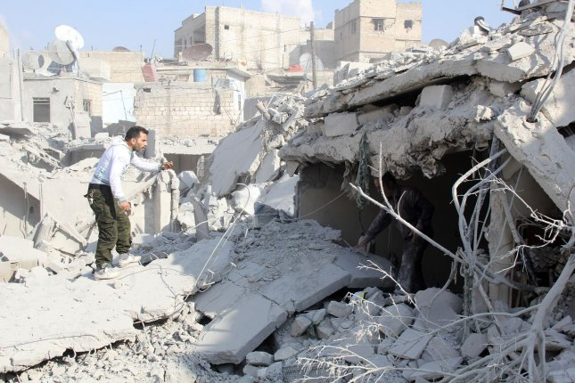 The Russian Defense Ministry said Friday it found evidence of use of chemical weapons by anti-Sytrian government forces in and near the city of Alleppo, Syria. File Photo by Ameer Alhalbi/ UPI