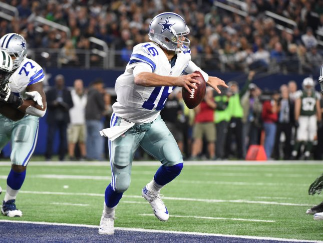 Matt Cassel, a former quarterback for the Dallas Cowboys and several other teams, is headed to the Detroit Lions. Photo by Ian Halperin/UPI