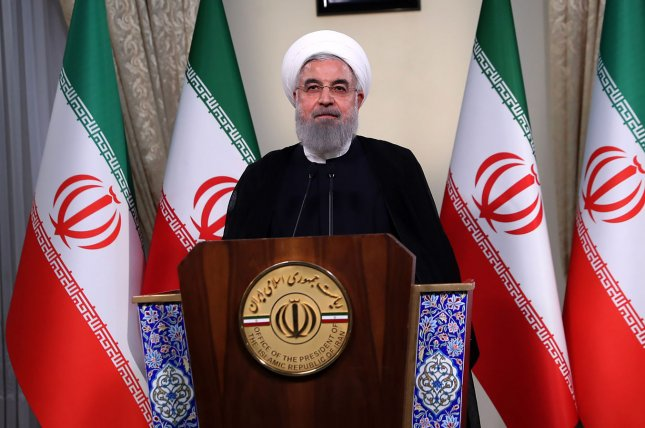 Iranian President Hassan Rouhani left Tehran for a European tour Tuesday as the U.S. government works to shut Iran's oil out of the market. Photo by the Iranian Presidency Office/UPI