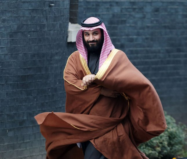 Saudi Crown Prince Mohammed bin Salman reached his goal Thursday to have the state-owned oil monopoly reach a $2 trillion valuation. Photo by Hugo Philpott/UPI