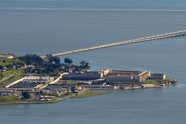California's San Quentin State Prison. Inmates in facilities across the U.S., such as at California's San Quentin State Prison, pictured, are at high risk for COVID-19, experts say. File Photo by Terry Schmitt/UPI
