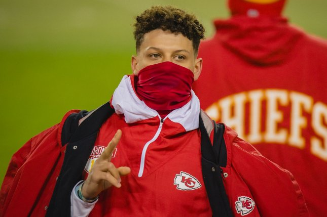 Kansas City Chiefs quarterback Patrick Mahomes must be cleared for full-contact activities and complete the NFL's five-step concussion protocol before he is allowed to play in Sunday's AFC Championship game. File Photo by Kyle Rivas/UPI