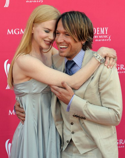 Nicole Kidman, who is pregnant, and Keith Urban arrive for the 43rd Academy of Country Music Awards at the MGM Grand in Las Vegas on May 18, 2008. (UPI Photo/Roger L. Wollenberg)